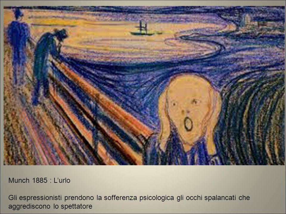 Munch 1885 : L'urlo Gli espressionisti prendono la sofferenza psicologica gli occhi spalancati che aggrediscono lo spettatore