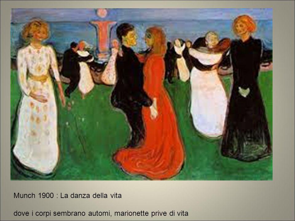 Munch 1900 : La danza della vita dove i corpi sembrano automi, marionette prive di vita