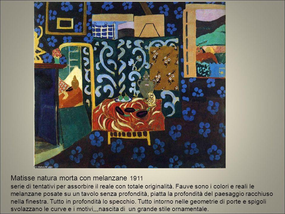 Matisse natura morta con melanzane 1911 serie di tentativi per assorbire il reale con totale originalità. Fauve sono i colori e reali le melanzane pos