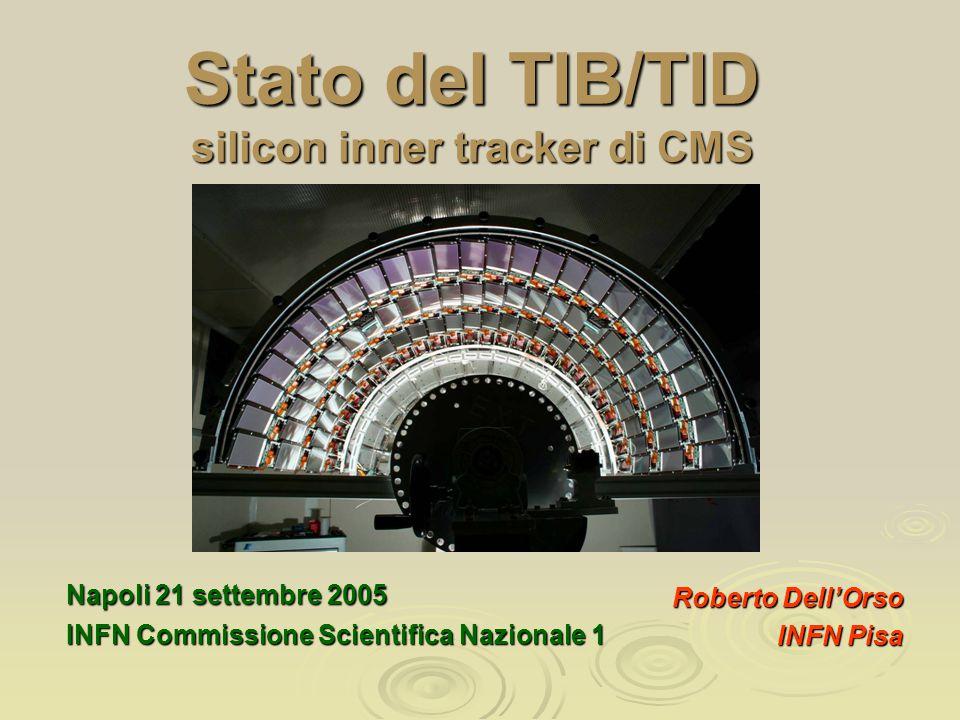  Il carrello (Antti Chariot) estende le rotaie del TOB all'esterno del Tracker Cylinder  Il cradle-out (o cradle di trasporto) estende le rotaie del TIB  Il cradle-in estende le rotaie del TIB all'esterno del TOB gia' installato nel Tracker Cylinder Procedura di inserzione TIB/TID