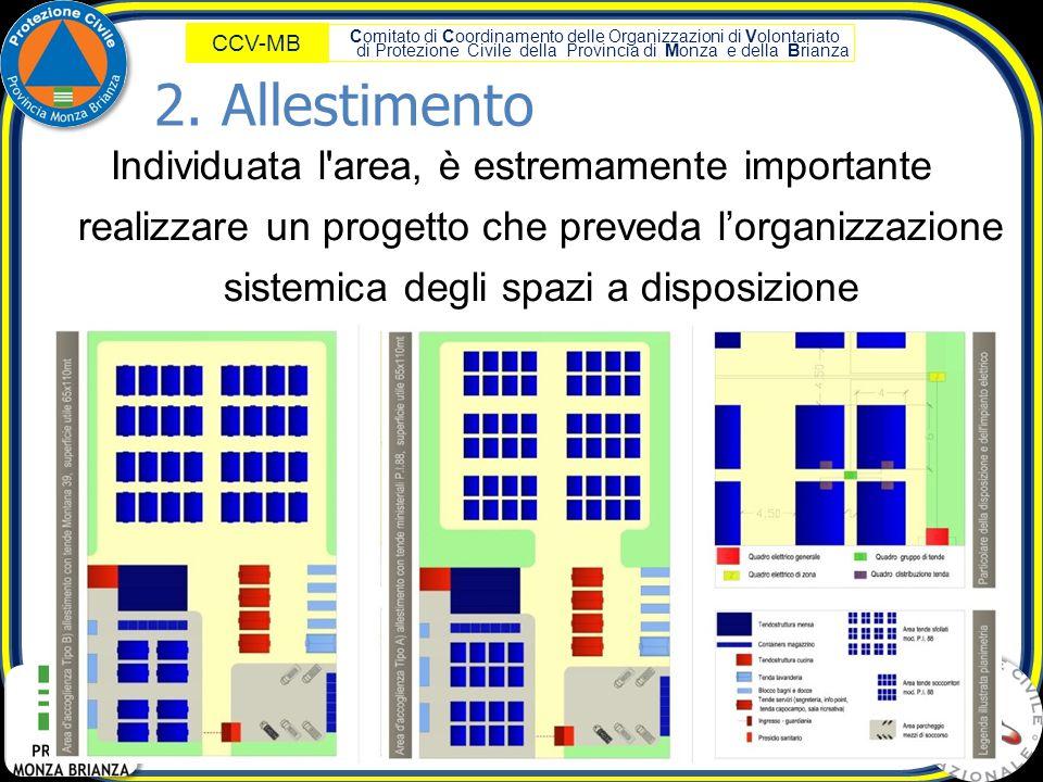 Comitato di Coordinamento delle Organizzazioni di Volontariato di Protezione Civile della Provincia di Monza e della Brianza CCV-MB Individuata l'area