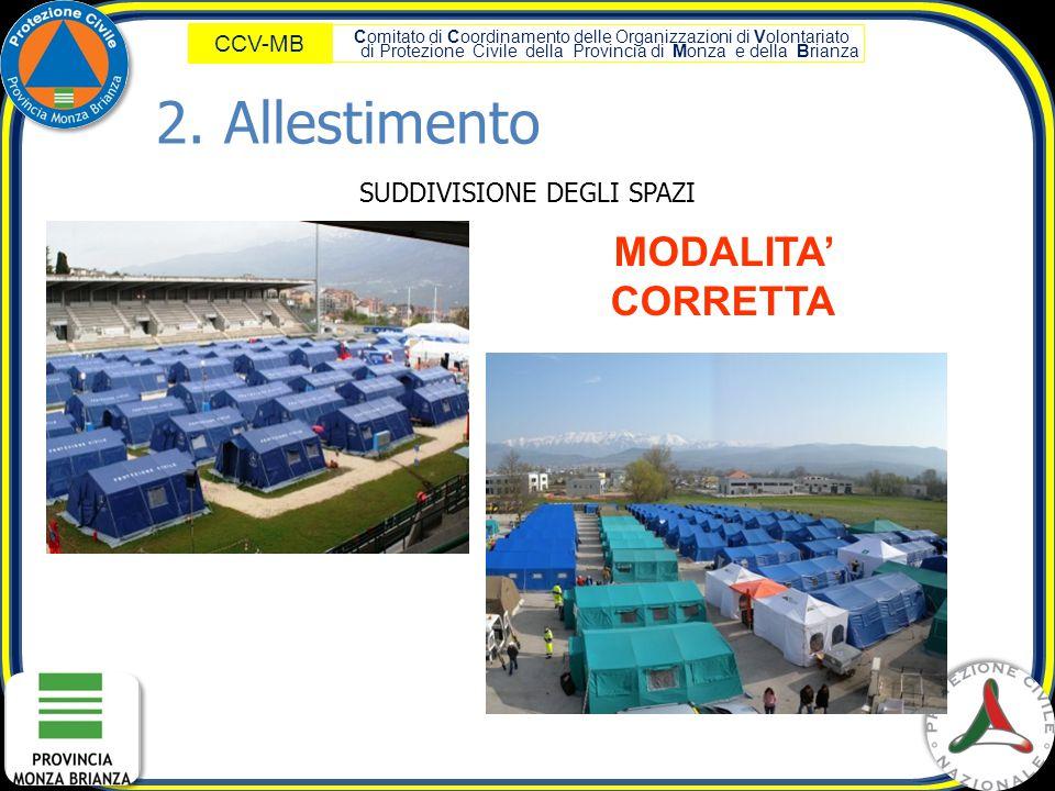 Comitato di Coordinamento delle Organizzazioni di Volontariato di Protezione Civile della Provincia di Monza e della Brianza CCV-MB MODALITA' CORRETTA