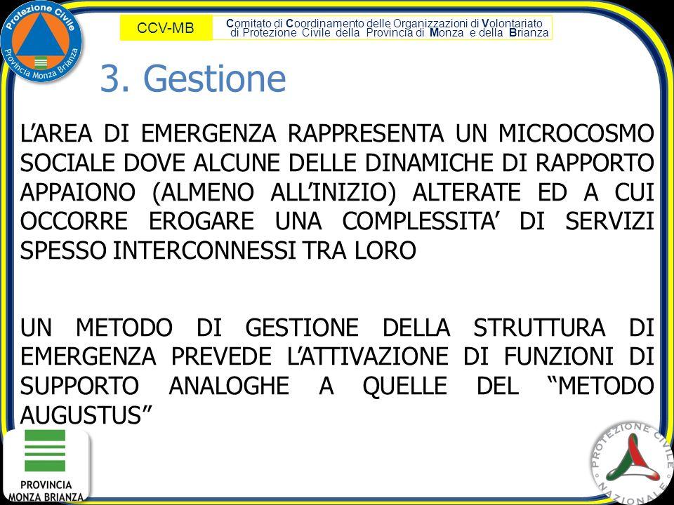 Comitato di Coordinamento delle Organizzazioni di Volontariato di Protezione Civile della Provincia di Monza e della Brianza CCV-MB L'AREA DI EMERGENZ