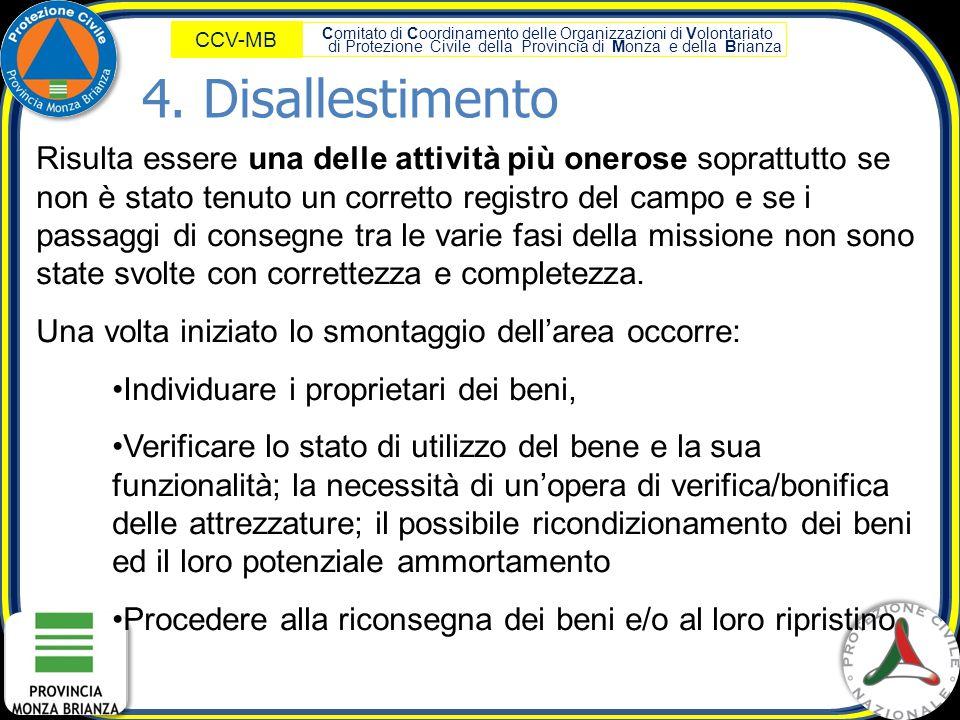 Comitato di Coordinamento delle Organizzazioni di Volontariato di Protezione Civile della Provincia di Monza e della Brianza CCV-MB Risulta essere una