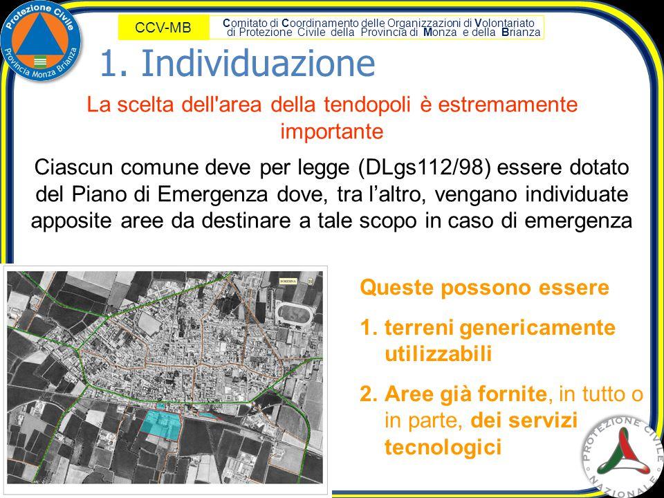Comitato di Coordinamento delle Organizzazioni di Volontariato di Protezione Civile della Provincia di Monza e della Brianza CCV-MB La scelta dell'are