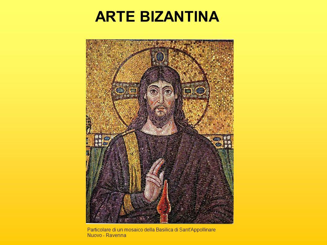 ARTE BIZANTINA Particolare di un mosaico della Basilica di Sant Appollinare Nuovo - Ravenna