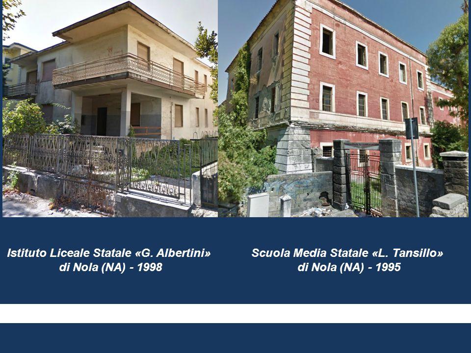 Istituto Liceale Statale «G. Albertini» di Nola (NA) - 1998 Scuola Media Statale «L. Tansillo» di Nola (NA) - 1995