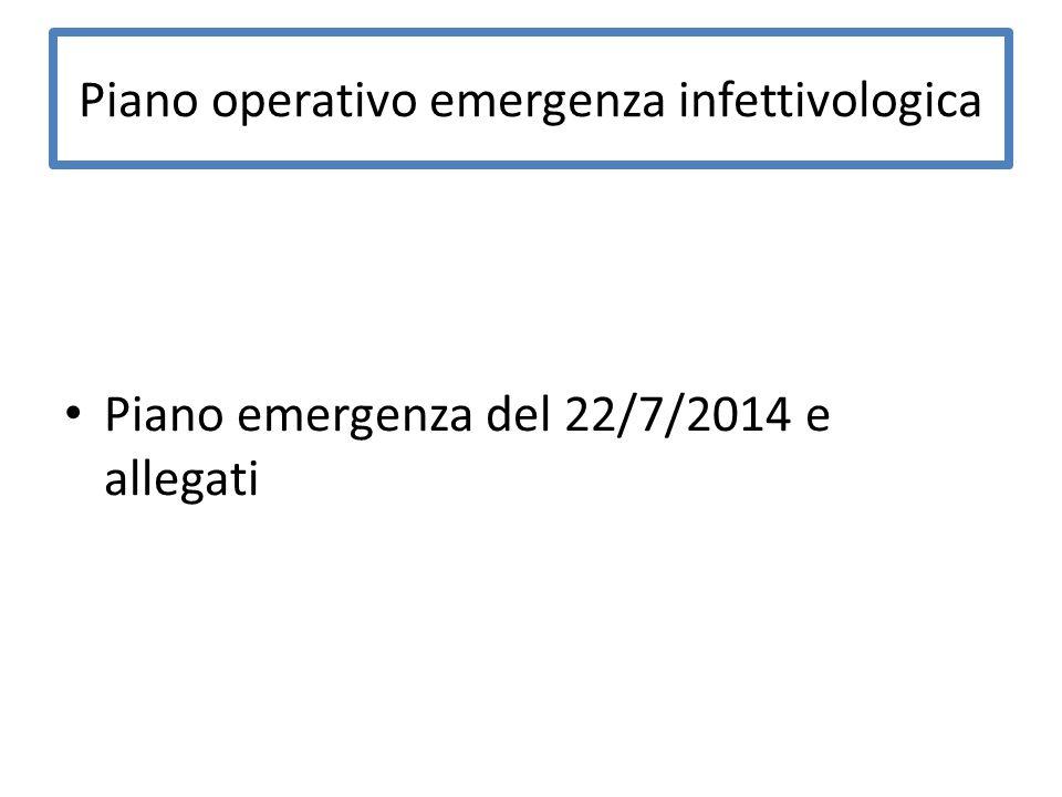Piano operativo emergenza infettivologica Piano emergenza del 22/7/2014 e allegati