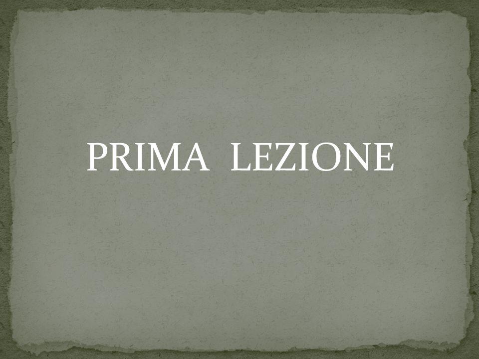 PRIMA LEZIONE