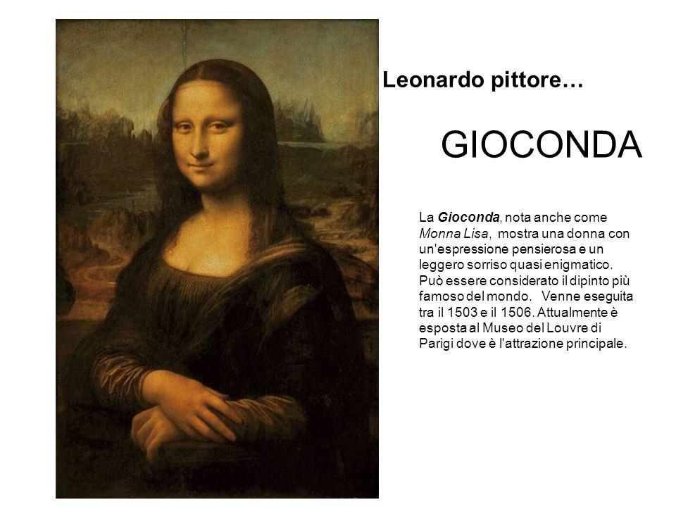 GIOCONDA La Gioconda, nota anche come Monna Lisa, mostra una donna con un espressione pensierosa e un leggero sorriso quasi enigmatico.