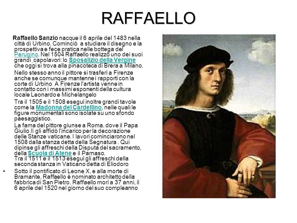 MICHELANGELO Nacque il 6/3/1475 a Caprese oggi in suo onore chiamata Caprese Michelangelo.