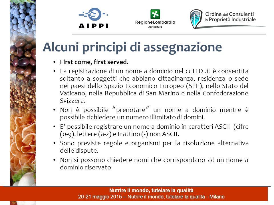 Nutrire il mondo, tutelare la qualità 20-21 maggio 2015 – Nutrire il mondo, tutelare la qualità - Milano First come, first served.