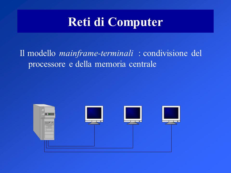 Tecniche di commutazione La commutazione di pacchetto non comporta l'attivazione di una linea di comunicazione dedicata fra un computer ed un altro, massimizzando così l utilizzazione dei mezzi trasmissivi impiegati.