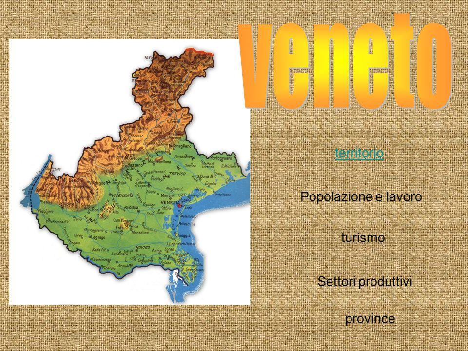 territorio Popolazione e lavoro turismo Settori produttivi province