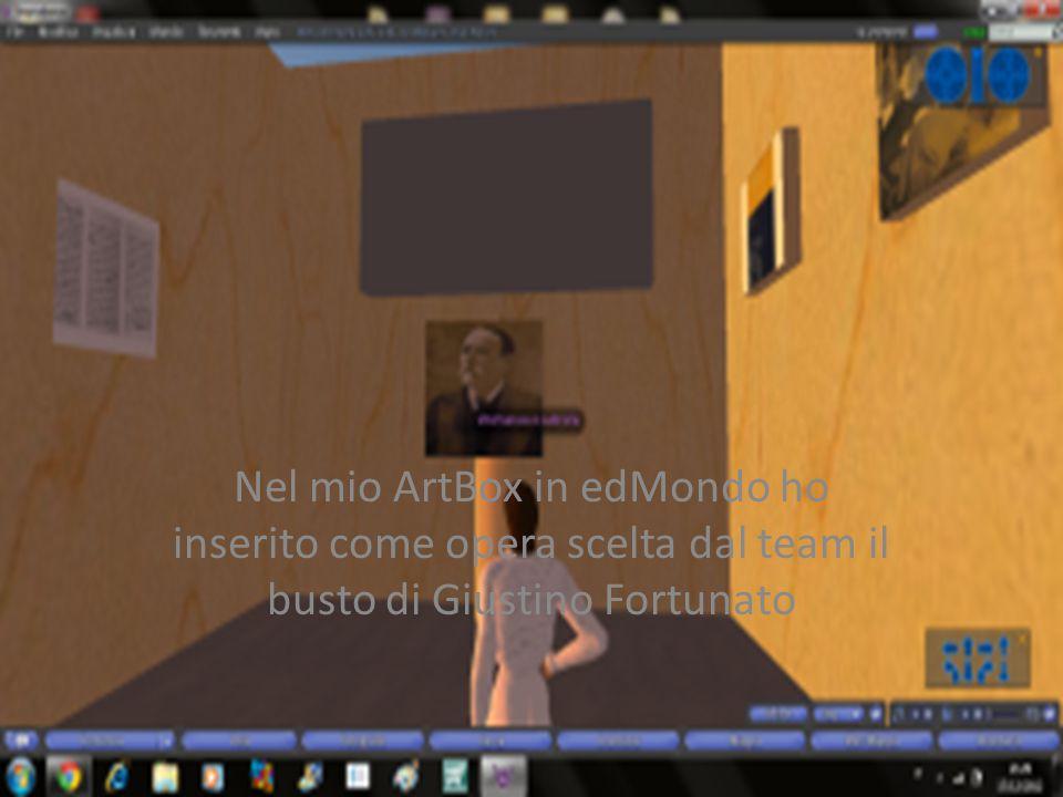 Nel mio ArtBox in edMondo ho inserito come opera scelta dal team il busto di Giustino Fortunato