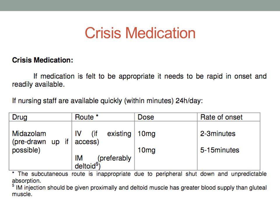 Crisis Medication