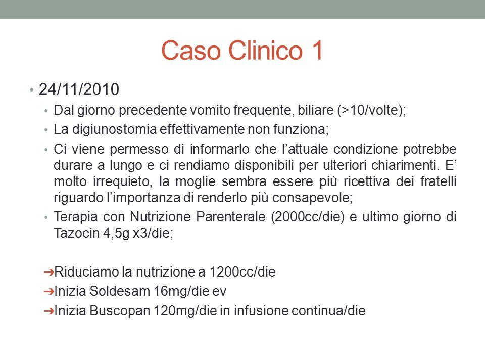 Caso Clinico 1 30/11/2010 Progressivo miglioramento del quadro occlusivo; Si alimenta con cibi semiliquidi senza vomitare.