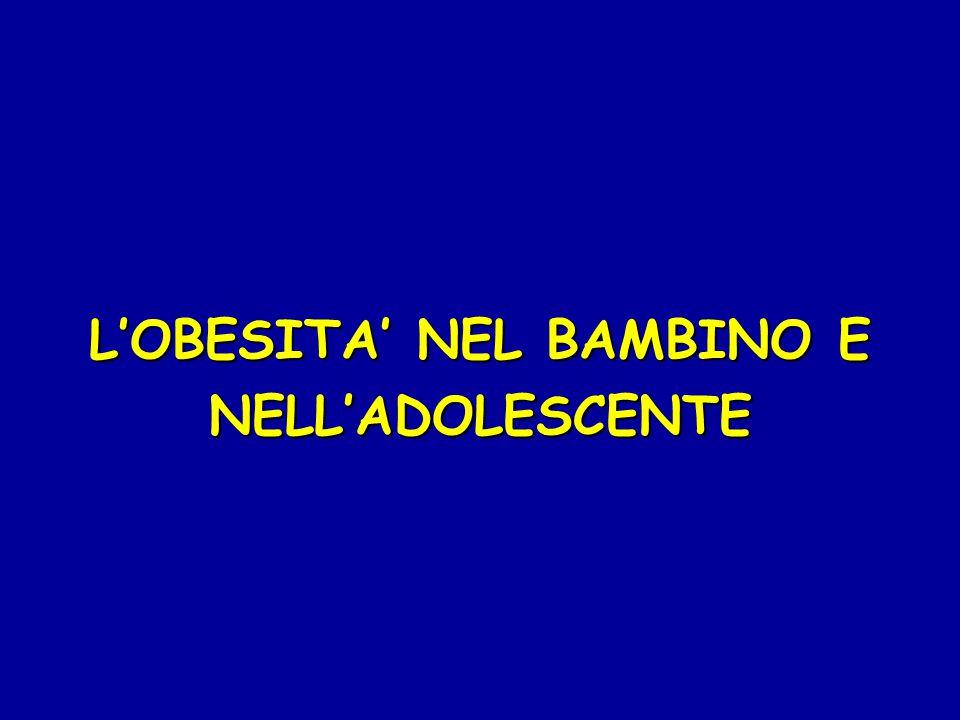 L'OBESITA' NEL BAMBINO E NELL'ADOLESCENTE