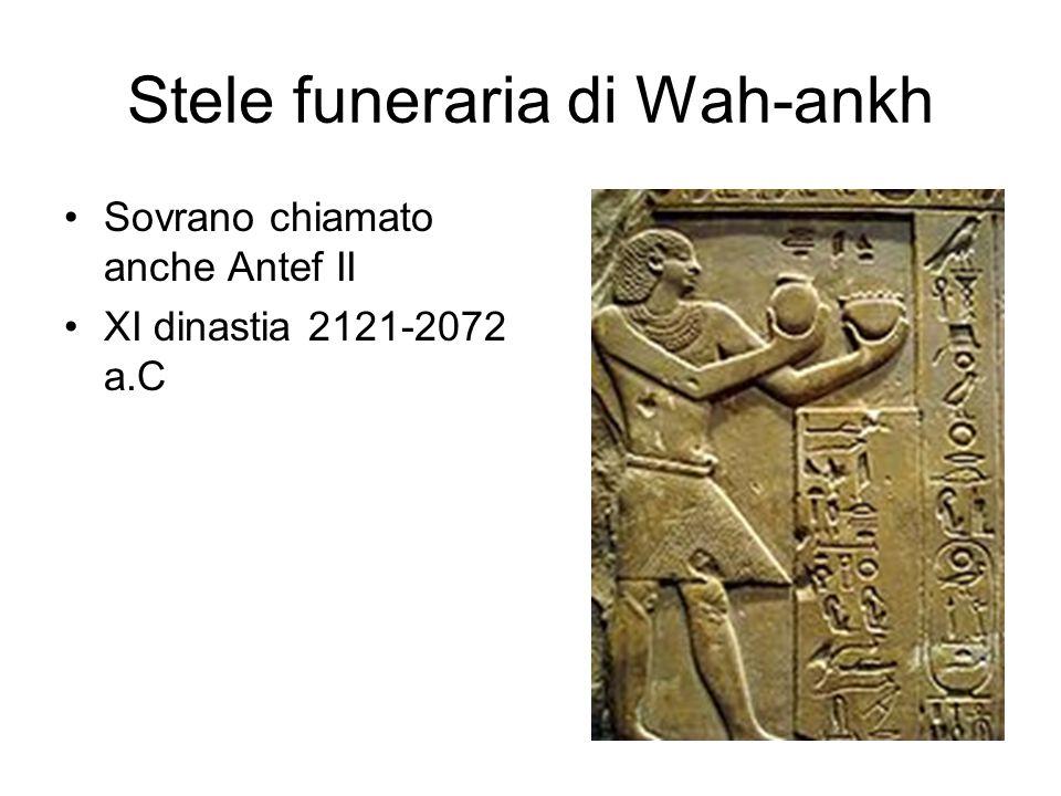 Stele funeraria di Wah-ankh Sovrano chiamato anche Antef II XI dinastia 2121-2072 a.C