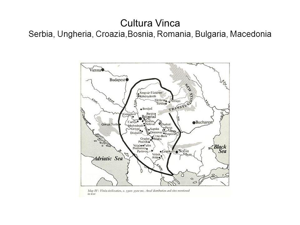 Cultura Vinca Serbia, Ungheria, Croazia,Bosnia, Romania, Bulgaria, Macedonia