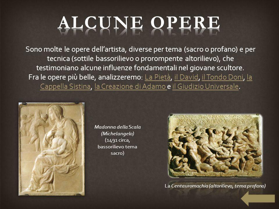 Sono molte le opere dell'artista, diverse per tema (sacro o profano) e per tecnica (sottile bassorilievo o prorompente altorilievo), che testimoniano