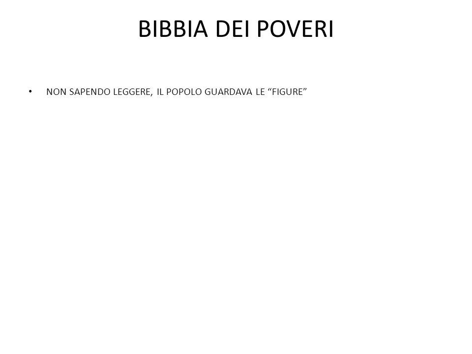 """BIBBIA DEI POVERI NON SAPENDO LEGGERE, IL POPOLO GUARDAVA LE """"FIGURE"""""""