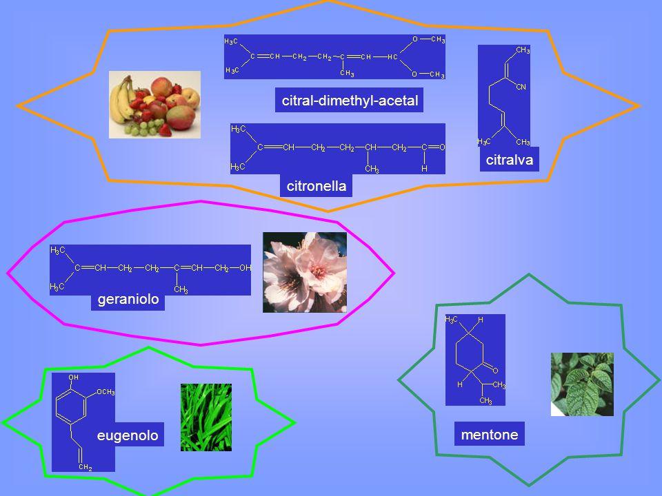 citral-dimethyl-acetal citronella citralva eugenolo mentone geraniolo