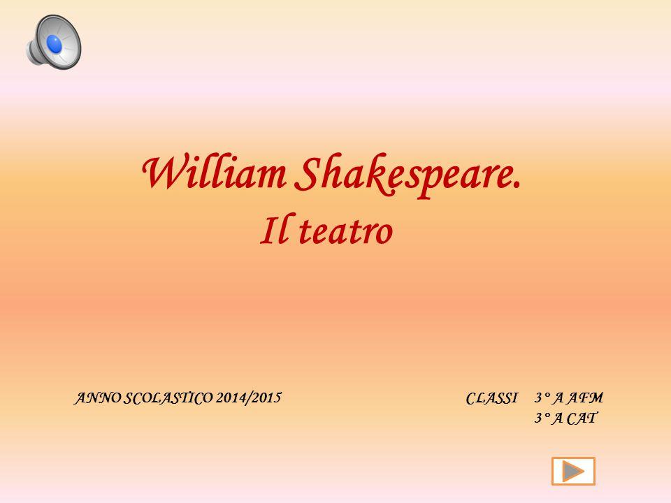 ANNO SCOLASTICO 2014/2015 CLASSI 3° A AFM 3° A CAT William Shakespeare. Il teatro