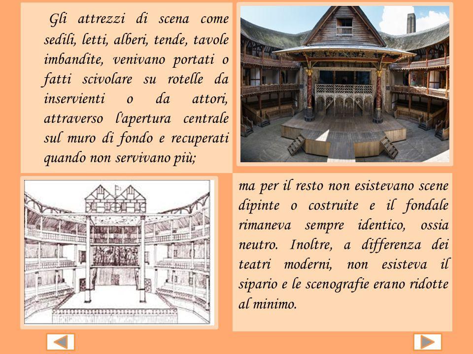 I teatri erano arene a cielo aperto, di forma circolare con una platea dove gli spettatori stavano in piedi o su gradinate, veri e propri palchi. Gli