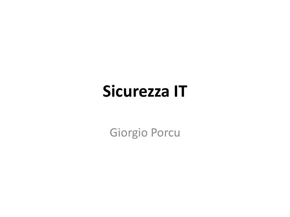 Sicurezza IT Giorgio Porcu