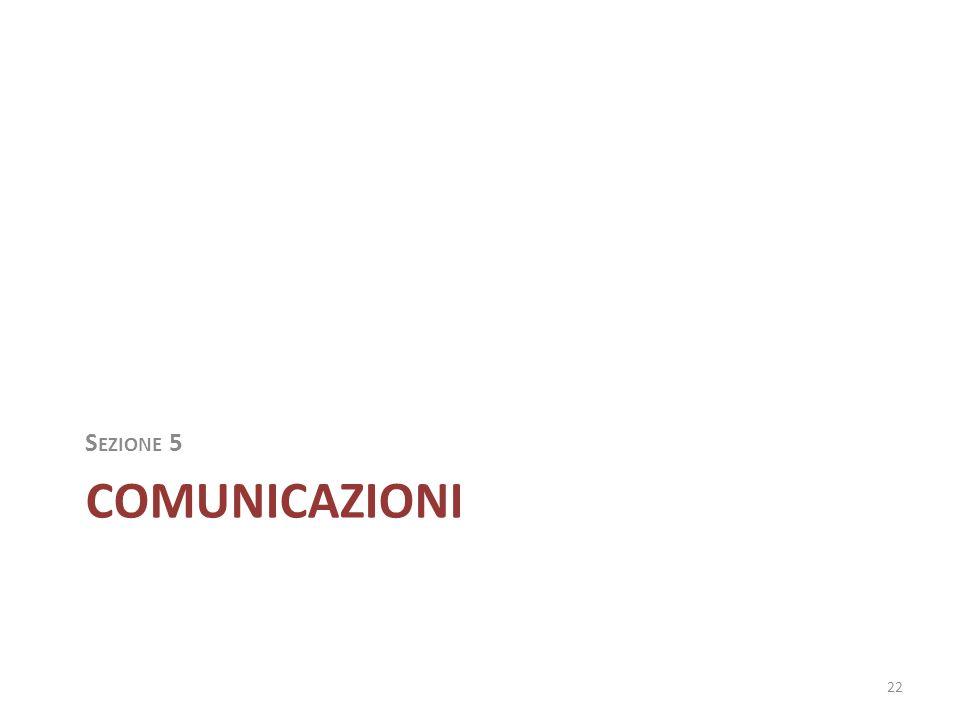 COMUNICAZIONI S EZIONE 5 22
