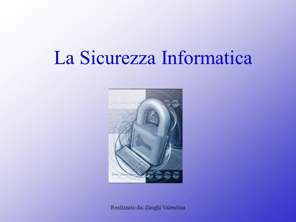 Realizzato da: Zanghi Valentina La Sicurezza Informatica