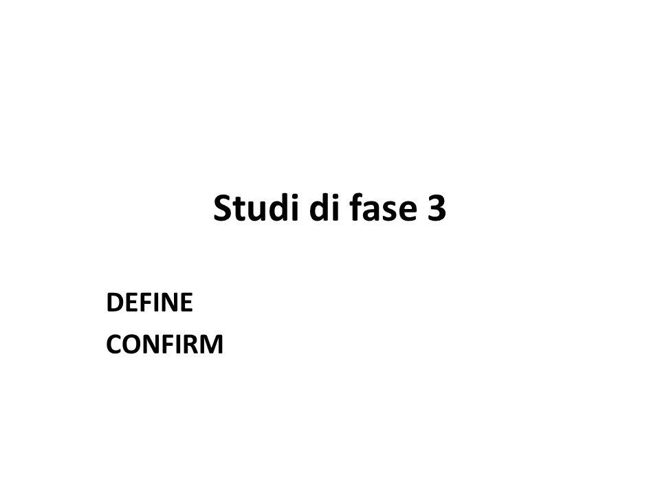 Studi di fase 3 DEFINE CONFIRM