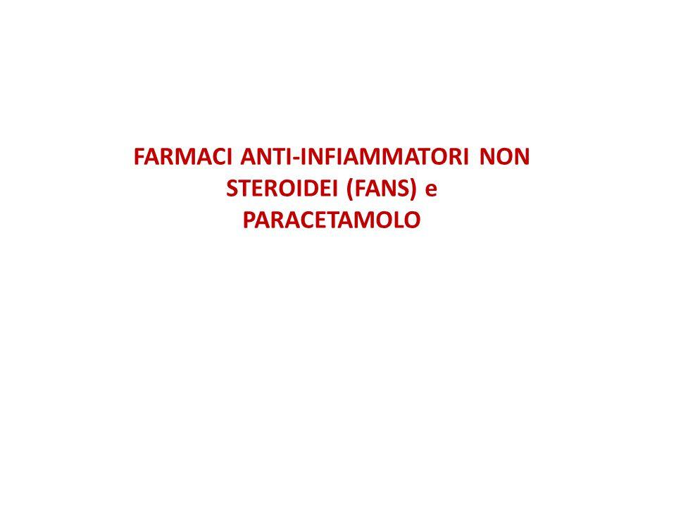 FARMACI ANTI-INFIAMMATORI NON STEROIDEI (FANS) e PARACETAMOLO