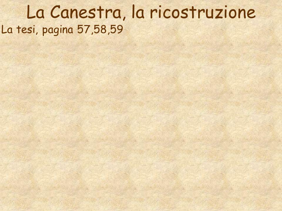 La Canestra, la ricostruzione La tesi, pagina 57,58,59