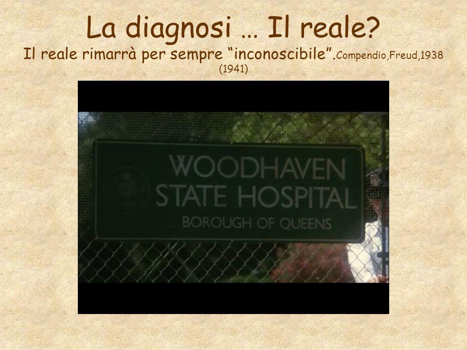 """La diagnosi … Il reale? Il reale rimarrà per sempre """"inconoscibile"""". Compendio,Freud,1938 (1941)"""