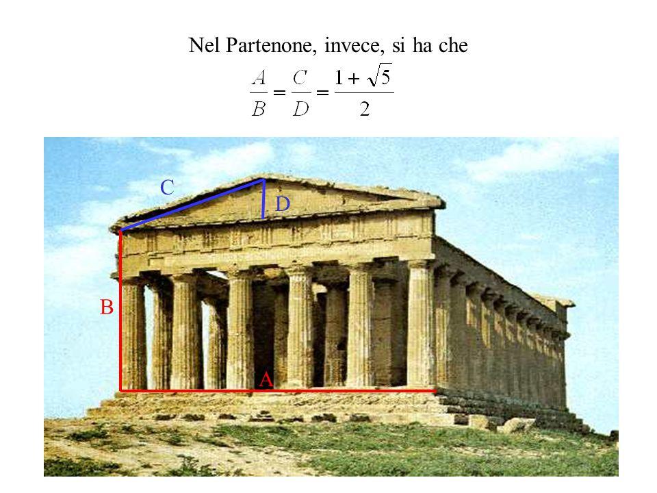 Nel Partenone, invece, si ha che A B C D