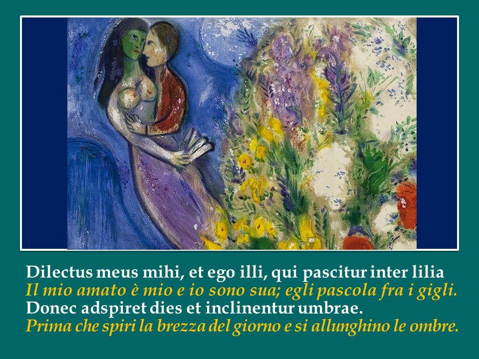 In lectulo meo per noctes quaesivi, quem diligit anima mea; Sul mio letto, lungo la notte, ho cercato l amore dell anima mia; quaesivi illum et non inveni l ho cercato, ma non l ho trovato.
