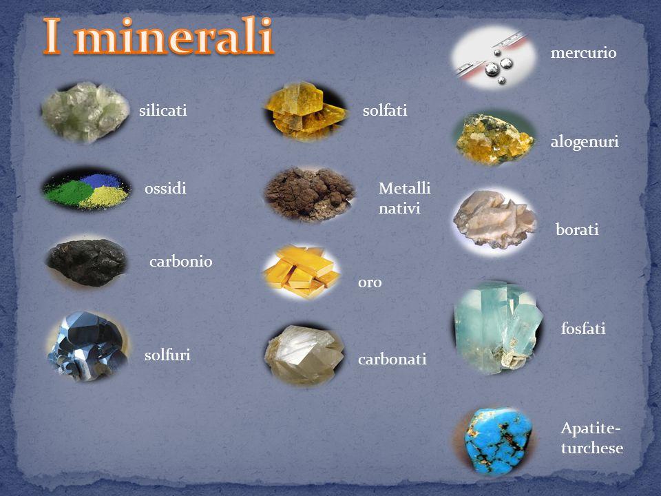 I minerali sono sostanze naturali solide, caratterizzate da una composizione chimica definita, con gli atomi disposti in una struttura geometrica chiamata reticolo cristallino.