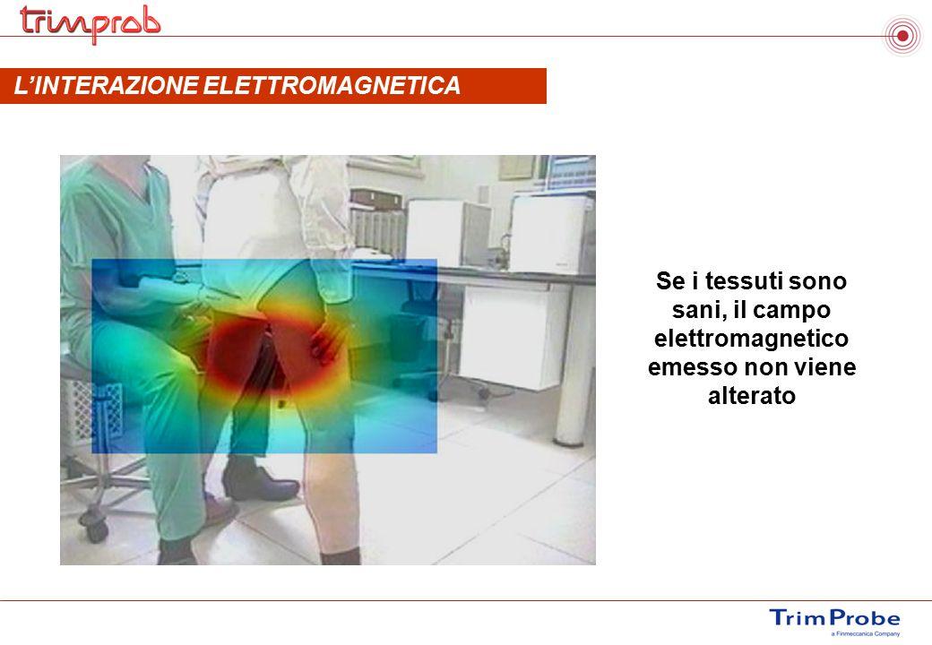 Se i tessuti sono sani, il campo elettromagnetico emesso non viene alterato L'INTERAZIONE ELETTROMAGNETICA