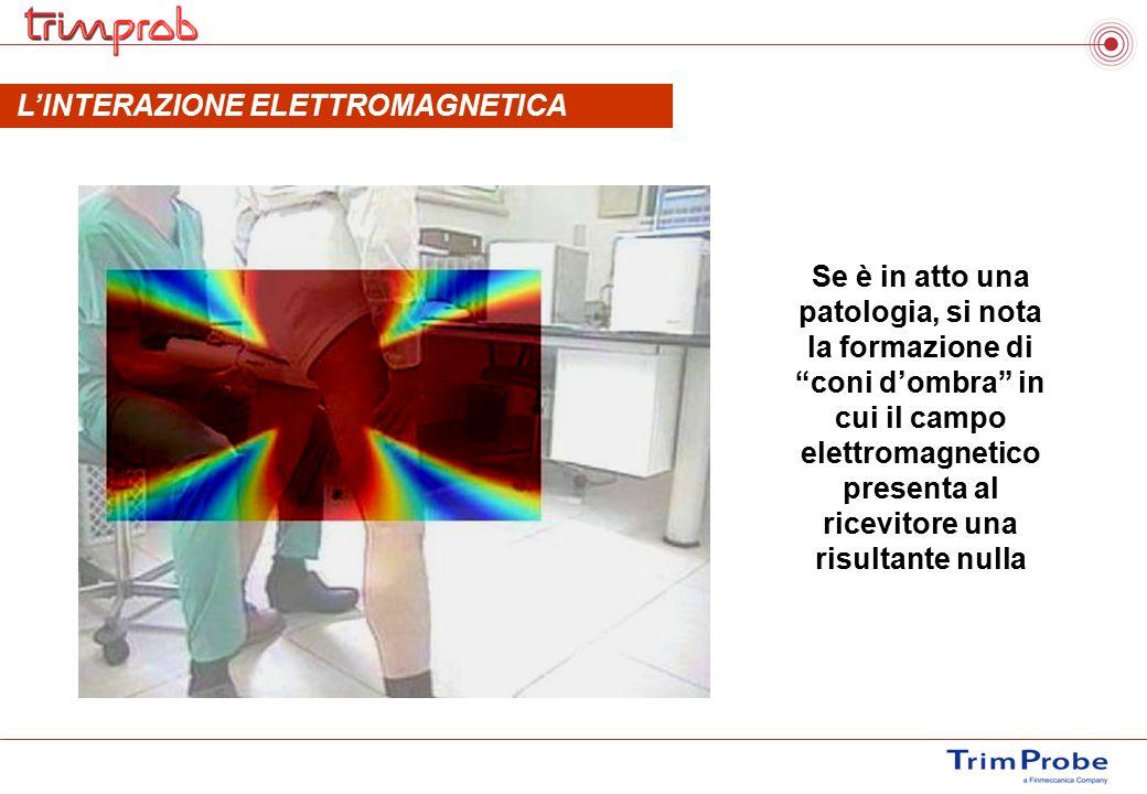 """Se è in atto una patologia, si nota la formazione di """"coni d'ombra"""" in cui il campo elettromagnetico presenta al ricevitore una risultante nulla L'INT"""