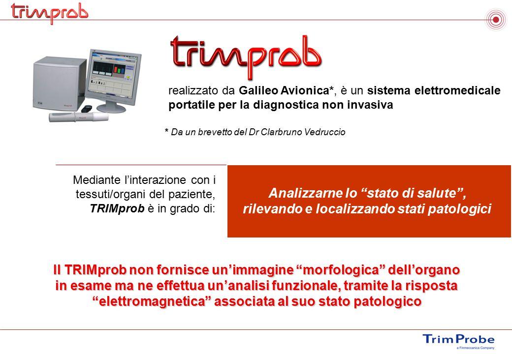 Mediante l'interazione con i tessuti/organi del paziente, TRIMprob è in grado di: realizzato da Galileo Avionica*, è un sistema elettromedicale portat