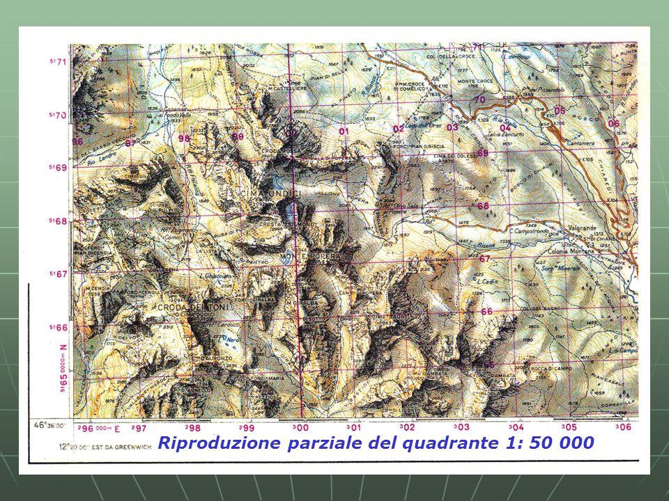 Riproduzione parziale del quadrante 1: 50 000