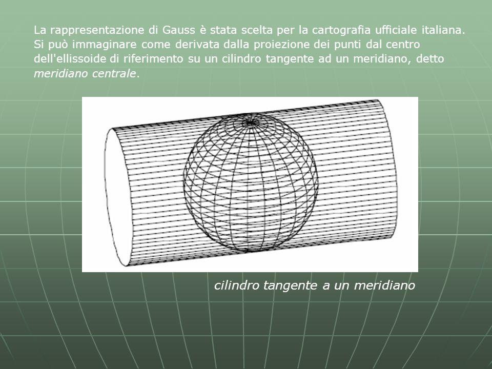 La rappresentazione di Gauss è stata scelta per la cartografia ufficiale italiana.