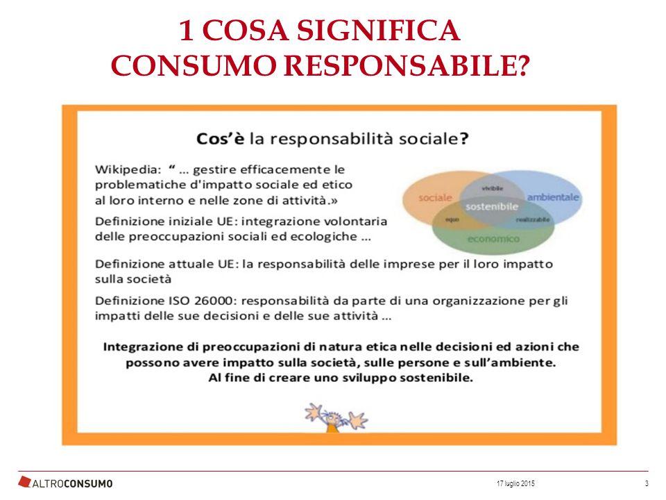 2 COSA SIGNIFICA CONSUMO RESPONSABILE.