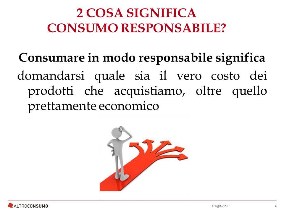 Consumare in modo responsabile significa domandarsi quale sia il vero costo dei prodotti in vendita.