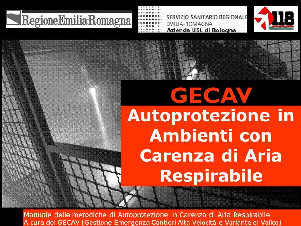 Autoprotezione in Ambienti con Carenza di Aria Respirabile GECAV Manuale delle metodiche di Autoprotezione in Carenza di Aria Respirabile A cura del G