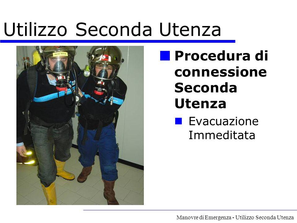 Manovre di Emergenza - Utilizzo Seconda Utenza Procedura di connessione Seconda Utenza Evacuazione Immeditata Utilizzo Seconda Utenza
