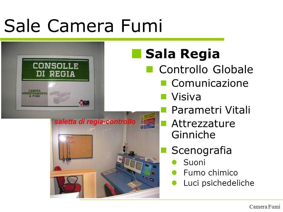 Camera Fumi Sale Camera Fumi Sala Regia Controllo Globale  Comunicazione  Visiva  Parametri Vitali  Attrezzature Ginniche  Scenografia Suoni Fumo