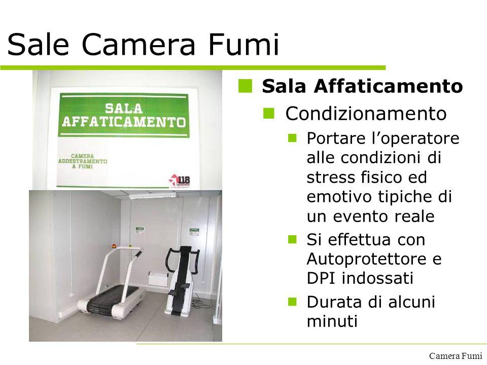 Camera Fumi Sala Affaticamento Condizionamento  Portare l'operatore alle condizioni di stress fisico ed emotivo tipiche di un evento reale  Si effet